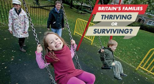 Britain's Families: thriving or surviving slide photo
