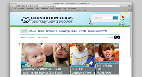 Relaunched Foundation Years website slide photo